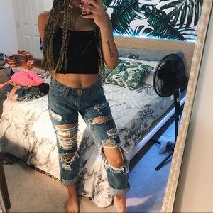 Distressed mom jeans from Fashion Nova